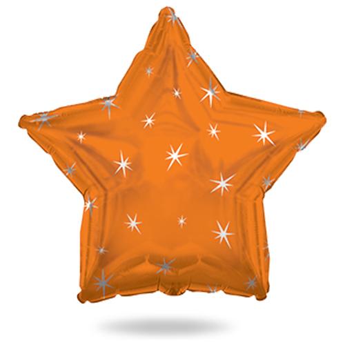 Звезда оранжевая с искорками