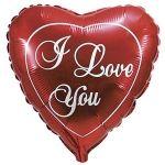 Сердце большое классическое шар фольгированный с гелием