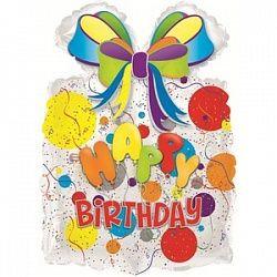Подарок с днем рождения - шар фольгированный