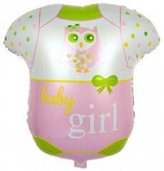 Боди для малышки - шар из фольги