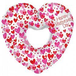 Сердце Валентинка шар фольгированный с гелием