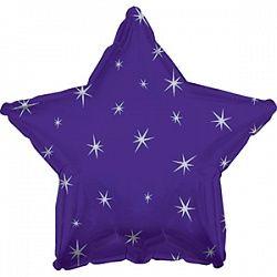 Звезда с искорками фиолетовая