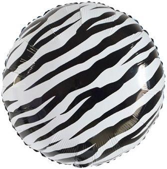 Круг Зебра чёрно-белый