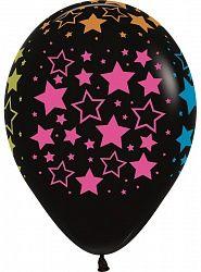 Чёрный шар с неоновыми звёздами