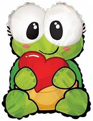Влюблённая черепашка  фольгированный шар с гелием